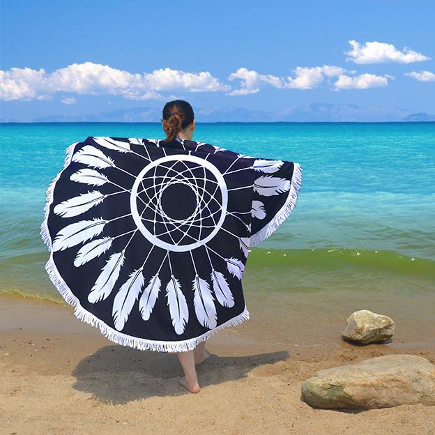serviettes-de-plage-rondes
